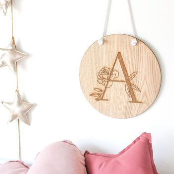 Personalised Initial Wall Hanging