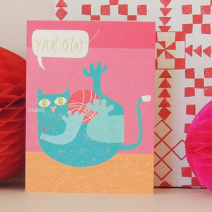 Cat Mini Greetings Card