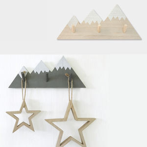 Children's Room Mountain Pegs Hooks - home accessories