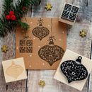 Christmas Scandi Baubles And Present Rubber Stamps