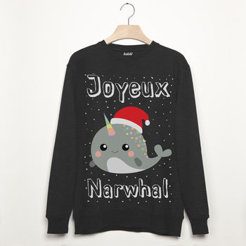 Joyeux Narwhal Men's Christmas Sweatshirt