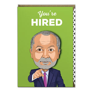 Alan Sugar You're Hired - new job cards