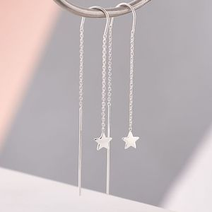 Super Star Chain Earrings - threader earrings