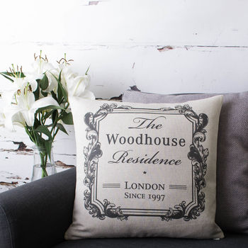 Personalised Family Home Cushion Cover
