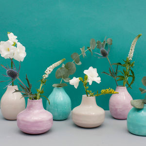 Enamel Bud Vase Trio - home accessories