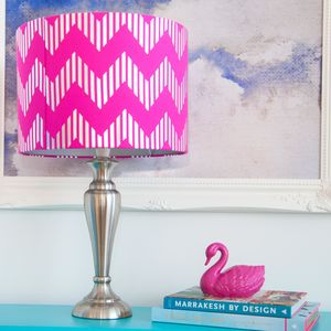 Metallic Chevron Drum Lampshade