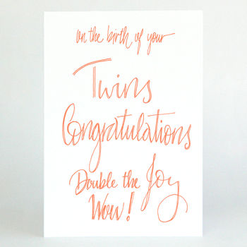 New Baby Twins Card