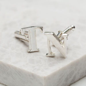 Personalised Initial Cufflinks - men's jewellery