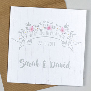 'Rustic Barn' Wedding Invitation