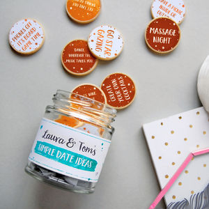 Personalised Couple's Date Ideas Jar - new in valentine's day