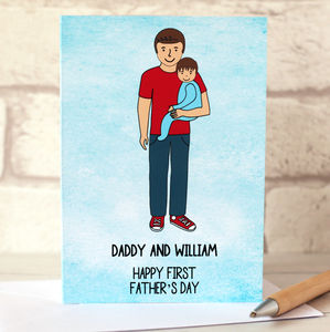 First Father's Day Portrait Card