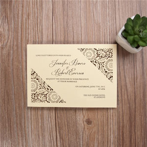 Flower Simple Laser Cut Evening Invitation - invitations