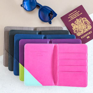 Personalised Passport Holder More Colours