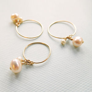 Pearl Wire Ring - rings