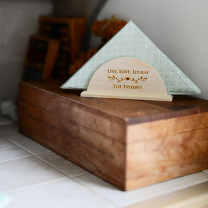 Personalised Wooden Napkin Coaster Holder - view all new