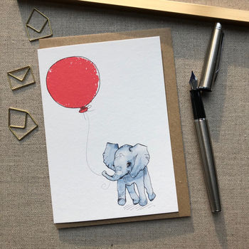 Personalised Elephant Birthday Card