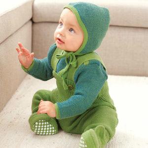 Organic Merino Wool Baby Dungarees - clothing