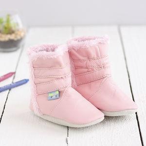 Classic Soft Leather Baby Boots - clothing