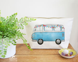 Campervan Canvas Wash Bag - make-up & wash bags