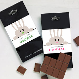 Personalised Easter Bunny Chocolate Bar - easter chocolate