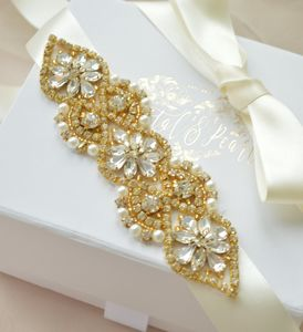 Boston Mini Gold Bridal Sash - dresses