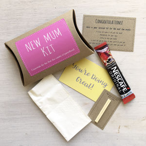 New Mum Kit Funny Gift Set - finishing touches