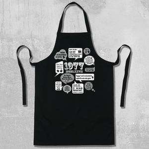 'Events Of 1977' 40th Birthday Gift Apron - birthday gifts