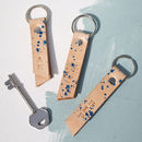 Personalised Leather Keyring With Hidden Message