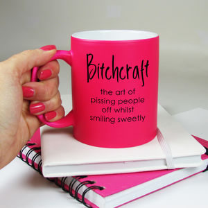 Bitchcraft Neon Mug - summer sale