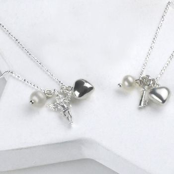 Happy 18th Birthday Key Or Guardian Angel Necklace