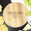 Mr And Mrs Personalised Round Chopping Board