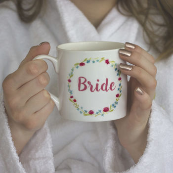 Personalised Bone China Bride's Mug