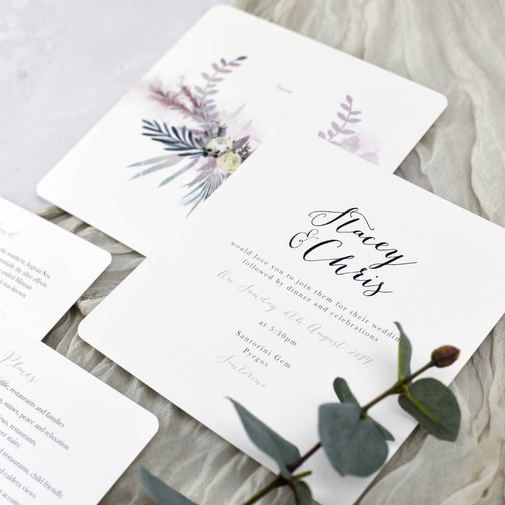 wedding invitation email free%0A  u    Santorini u     Wedding Invitations     u