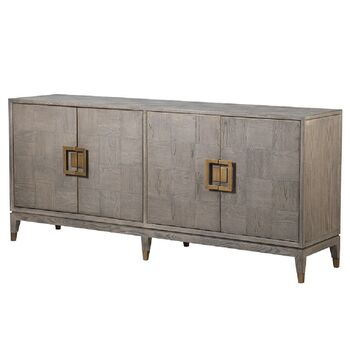 Bardon Oak Four Door Sideboard