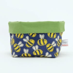 Busy Bees Canvas Storage Pot