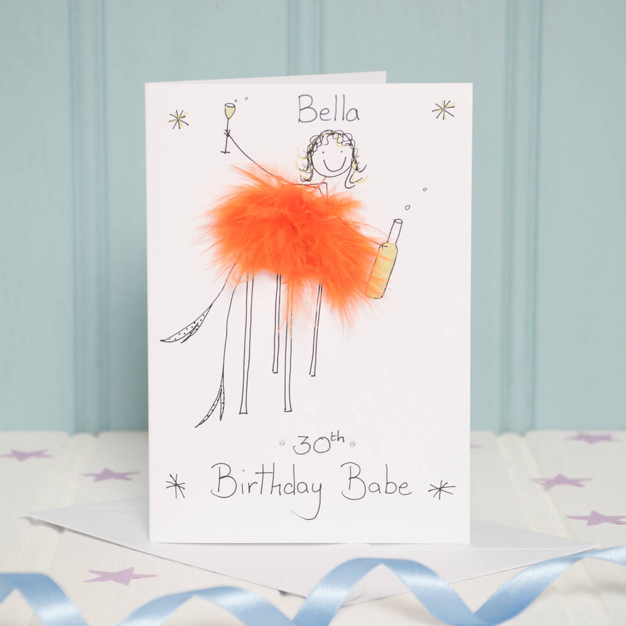 handmade personalised age card by all things brighton beautiful – Handmade Personalised Birthday Cards