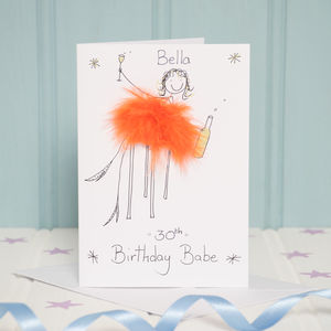 Handmade Personalised Age Card - 30th birthday cards