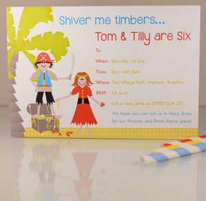 16 Pirate And Princess Invites Or Thank Yous