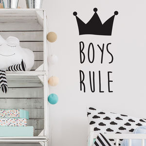 Girls Or Boys Rule Wall Stickers - children's room