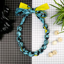 Chunky, Fabric Covered, Bead Necklace 'Bladderwrack'