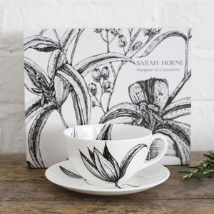 Fine Bone China Cappuccino Cup And Saucer Gift Sets - whatsnew