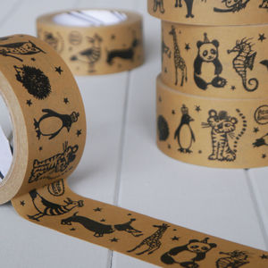 Animal Kraft Tape 50m Roll - diy & craft