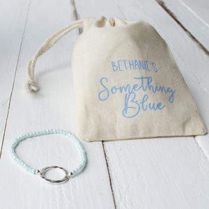 Something Blue Bridal Bracelet - bracelets & bangles