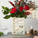 Personalised Christmas Ceramic Book Vase