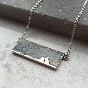 Kissing Silver Bunny Rabbit Necklace