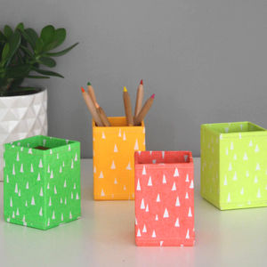 Recycled Fluoro Brights Pen Pot
