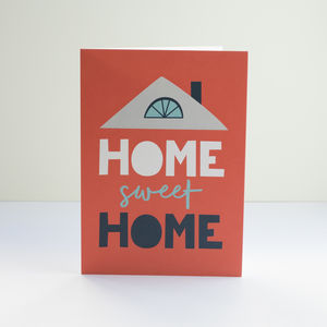 'Home Sweet Home' Greetings Card