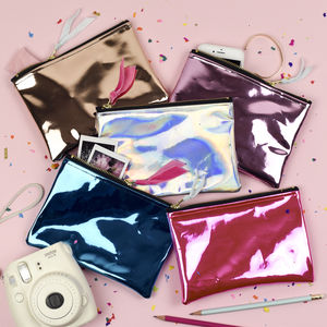 Mirror Shine Holographic Party Pouch