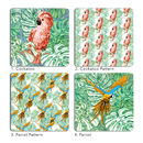 Tropical Birds Coasters