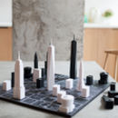 New York City Architectural Chess Set With Map Board